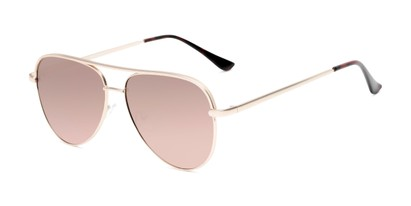 Angle of Breaker #3218 in Gold Frame with Gold Lenses, Women's and Men's Aviator Sunglasses