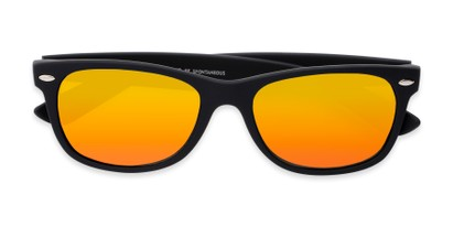 Folded of Brien #6230 in Black Frame with Orange Mirrored Lenses
