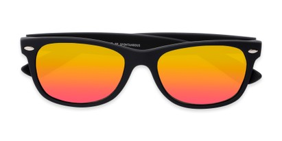 Folded of Brien #6230 in Black Frame with Pink/Yellow Mirrored Lenses
