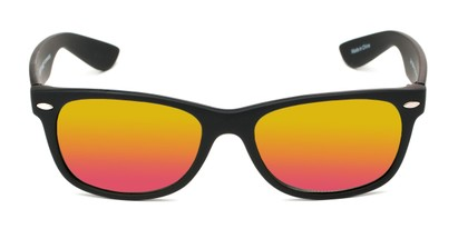 Front of Brien #6230 in Black Frame with Pink/Yellow Mirrored Lenses