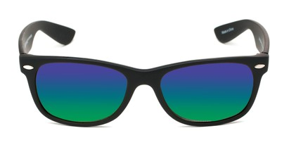 Front of Brien #6230 in Black Frame with Green/Purple Mirrored Lenses