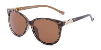 Angle of Bristol #6881 in Tortoise Frame with Amber Lenses, Women's Retro Square Sunglasses