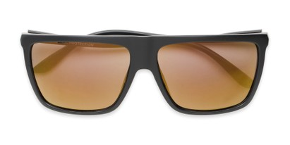 Folded of Brock #62801 in Matte Black Frame with Gold Mirrored Lenses