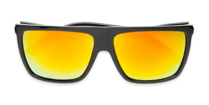 Folded of Brock #62801 in Glossy Black Frame with Yellow Mirrored Lenses