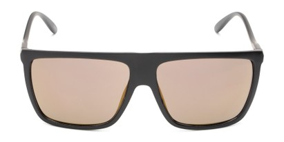 Front of Brock #62801 in Matte Black Frame with Gold Mirrored Lenses