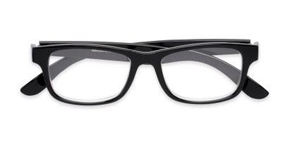 Folded of Buchanon #3391 in Black Frame with Grey Lenses
