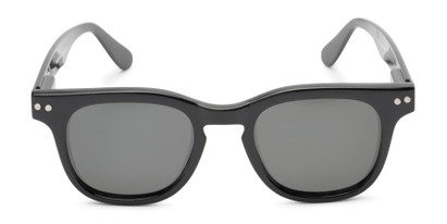 Front of Buchanon #3391 in Black Frame with Grey Lenses