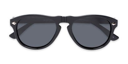 Folded of Burton #54107 in Black Frame with Grey Lenses