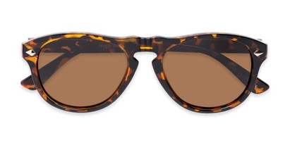 Folded of Burton #54107 in Tortoise Frame with Amber Lenses