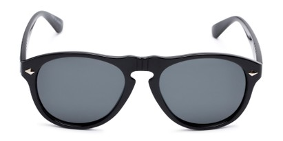 Front of Burton #54107 in Black Frame with Grey Lenses