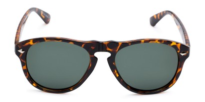 Front of Burton #54107 in Tortoise Frame with Green Lenses