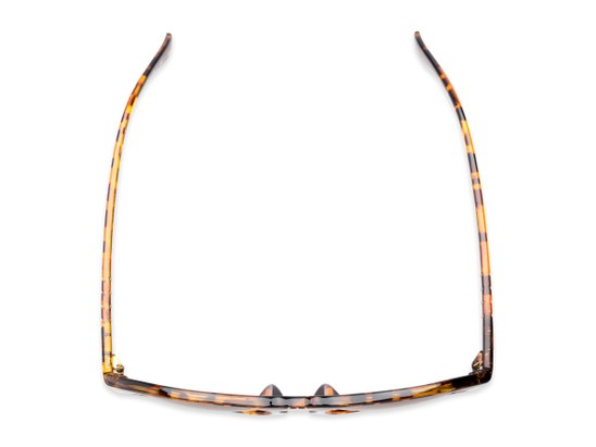 Overhead of Burton #54107 in Tortoise Frame with Amber Lenses