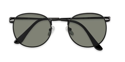 Folded of Cali #6389 in Black Frame with Green Lenses