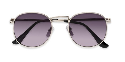 Folded of Cali #6389 in Silver Frame with Smoke Gradient Lenses