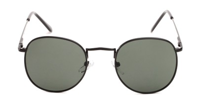 Front of Cali #6389 in Black Frame with Green Lenses