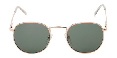 Front of Cali #6389 in Gold Frame with Green Lenses