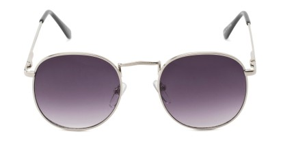 Front of Cali #6389 in Silver Frame with Smoke Gradient Lenses