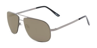 Angle of Canberra #3843 in Grey Frame with Gold Mirrored Lenses, Men's Aviator Sunglasses