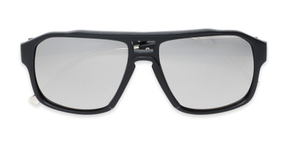 Folded of Captain #25028 in Matte Black/Silver Frame with Silver Mirrored Lenses