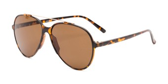 Angle of Casey #3084 in Glossy Tortoise Frame with Amber Lenses, Women's and Men's Aviator Sunglasses