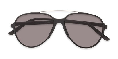 Folded of Casey #3084 in Matte Black Frame with Grey Lenses
