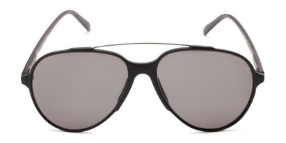 Front of Casey #3084 in Glossy Black Frame with Grey Lenses