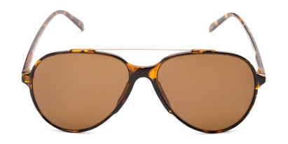Front of Casey #3084 in Glossy Tortoise Frame with Amber Lenses