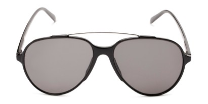 Front of Casey #3084 in Matte Black Frame with Grey Lenses