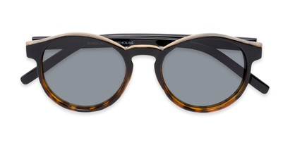 Folded of Cash #2029 in Black/Tortoise Frame with Grey Lenses
