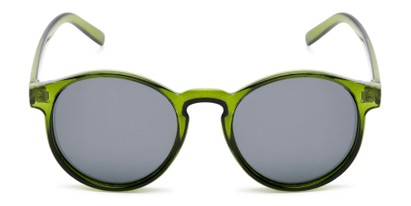 Front of Cash #2029 in Clear Green Frame with Grey Lenses