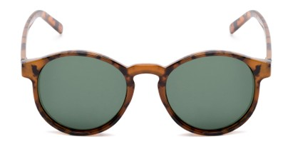 Front of Cash #2029 in Tortoise Frame with Green Lenses