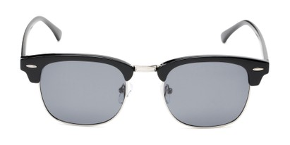 Front of Cassia #4018 in Black/Silver Frame with Smoke Lenses