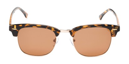 Front of Cassia #4018 in Tortoise/Gold Frame with Amber Lenses