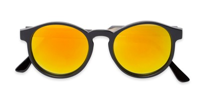 Folded of Cassidy #54104 in Black Frame with Orange Mirrored Lenses