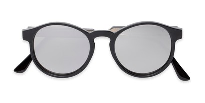 Folded of Cassidy #54104 in Black Frame with Silver Mirrored Lenses