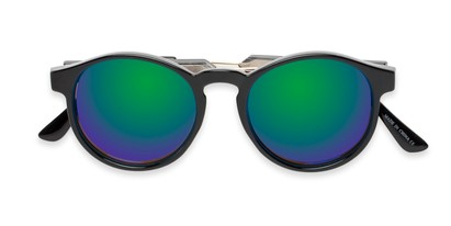 Folded of Cassidy #54104 in Black Frame with Green/Purple Mirrored Lenses