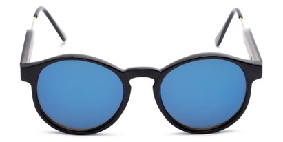 Front of Cassidy #54104 in Black Frame with Blue Mirrored Lenses