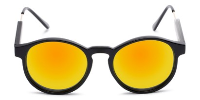 Front of Cassidy #54104 in Black Frame with Orange Mirrored Lenses