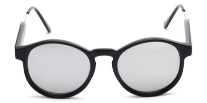 Front of Cassidy #54104 in Black Frame with Silver Mirrored Lenses