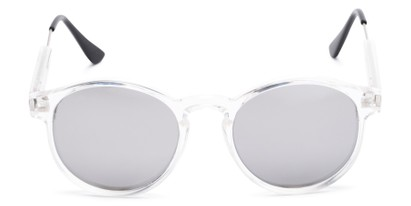 Front of Cassidy #54104 in Clear Frame with Silver Mirrored Lenses