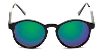 Front of Cassidy #54104 in Black Frame with Green/Purple Mirrored Lenses