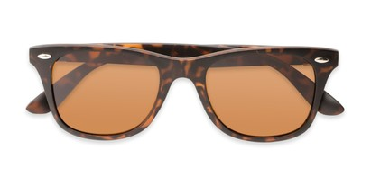 Folded of Castle Rock #28031 in Matte Tortoise with Amber Lenses