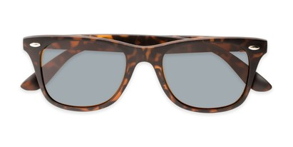 Folded of Castle Rock #28031 in Matte Tortoise with Smoke Lenses
