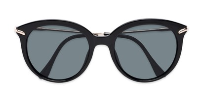 Folded of Charlotte #97011 in Black Frame with Grey Lenses
