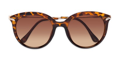 Folded of Charlotte #97011 in Tortoise Frame with Amber Lenses