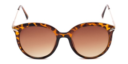 Front of Charlotte #97011 in Tortoise Frame with Amber Lenses