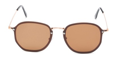 Front of Chase #7532 in Gold Frame with Amber Lenses