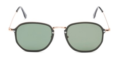Front of Chase #7532 in Gold Frame with Green Lenses