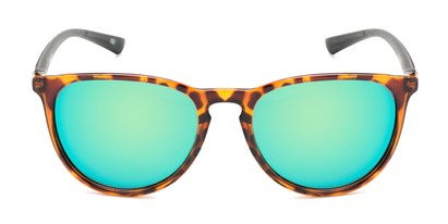 Front of Cloudbreak by Body Glove in Tortoise/Black Frame with Green/Blue Mirrored Lenses