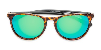 Folded of Cloudbreak by Body Glove in Tortoise/Black Frame with Green/Blue Mirrored Lenses